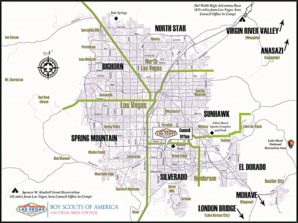LVAC District Map – BSA – Las Vegas Area Council